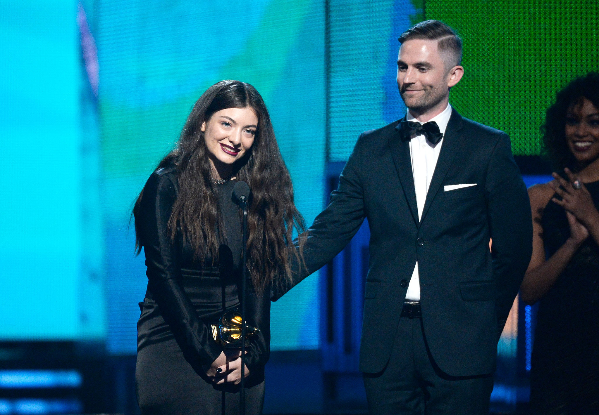 Lorde was adorable as she accepted her second award of the night.