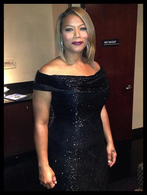 """Queen Latifah officiated a mass wedding during the show, saying, """"I did not enter into this lightly, but I entered into it fully . . . with love."""" Source: Twitter user IAMQUEENLATIFAH"""