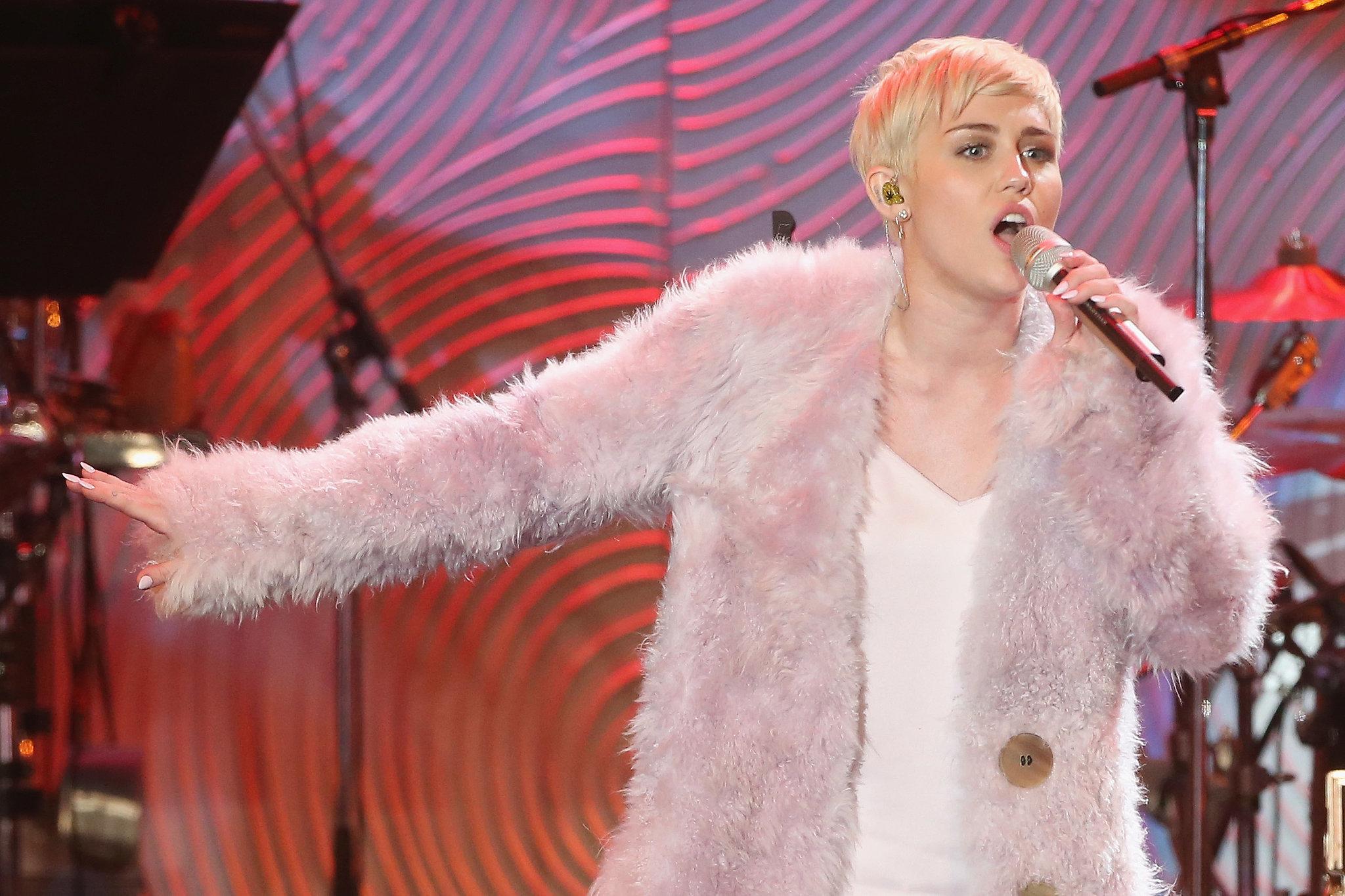 Miley Cyrus took the spotlight.