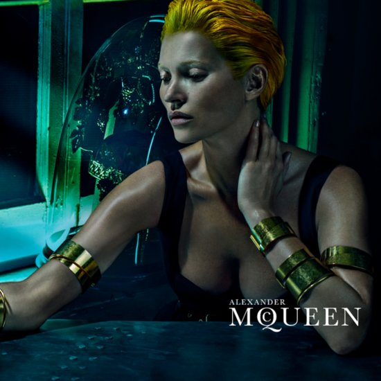 Kate Moss in Alexander McQueen Spring 2014 Campaign