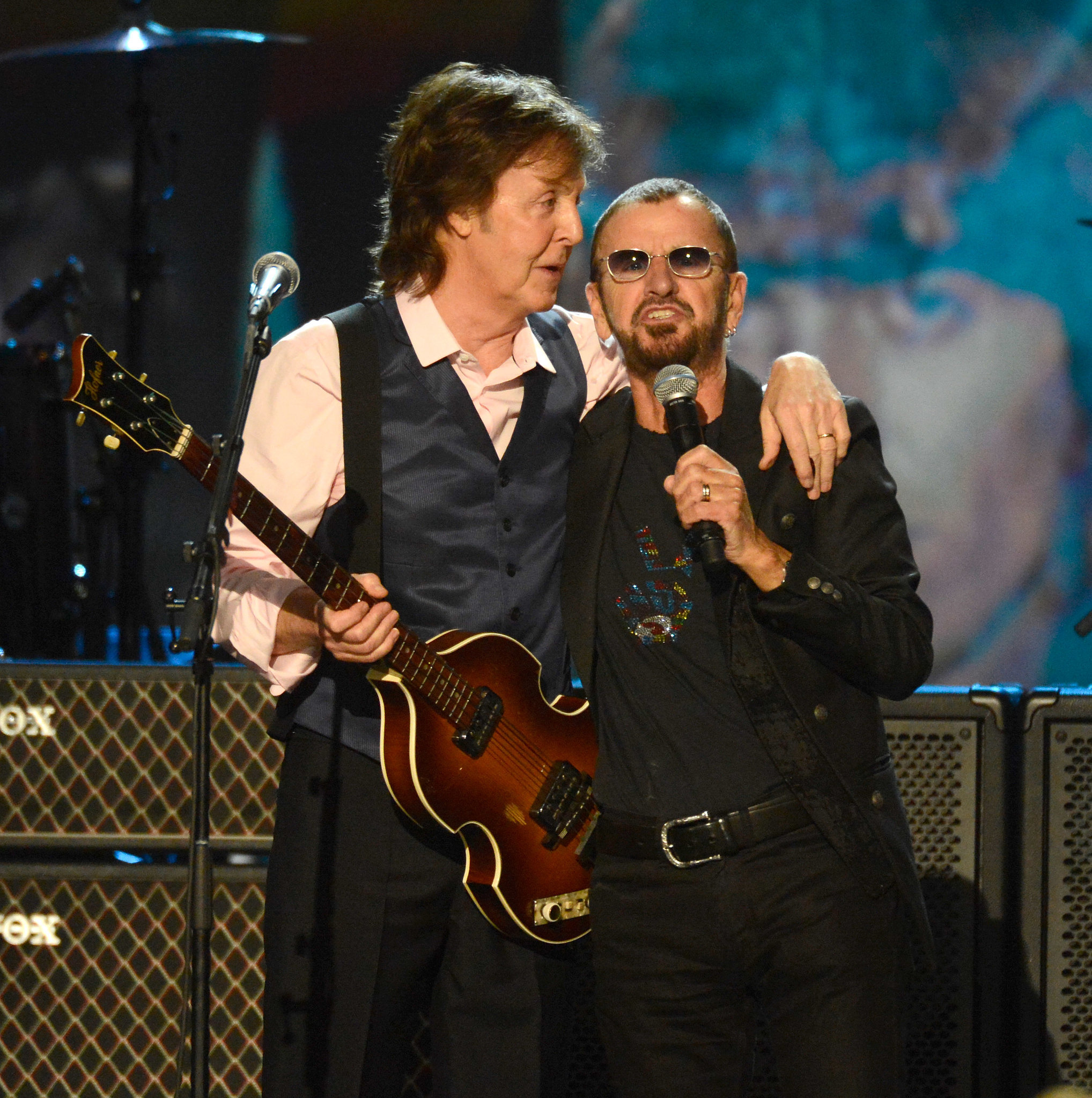 Paul McCartney and Ringo Starr reunited for a performance.