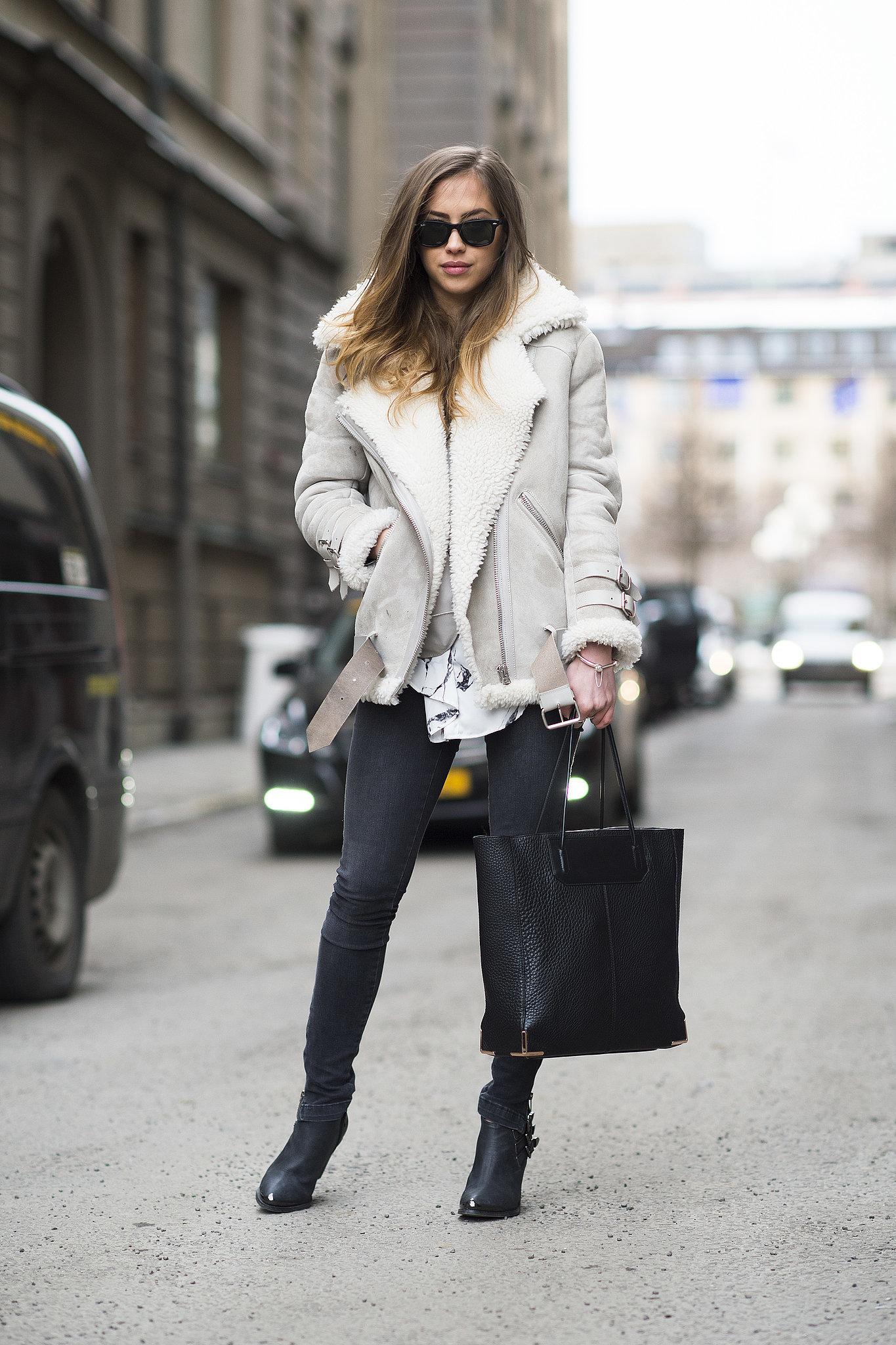 Bundling up looks better in shearling, doesn't it? Source: Le 21ème   Adam Katz Sinding