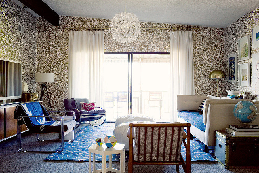 Rule to break 3 leave patterns to accent walls - Leave you dead in the living room ...