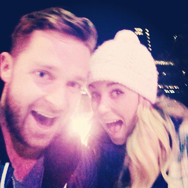 It's a Laguna Beach reunion! Lauren met with Trey Phillips for ice skating in NYC. Source: Instagram user laurenconrad