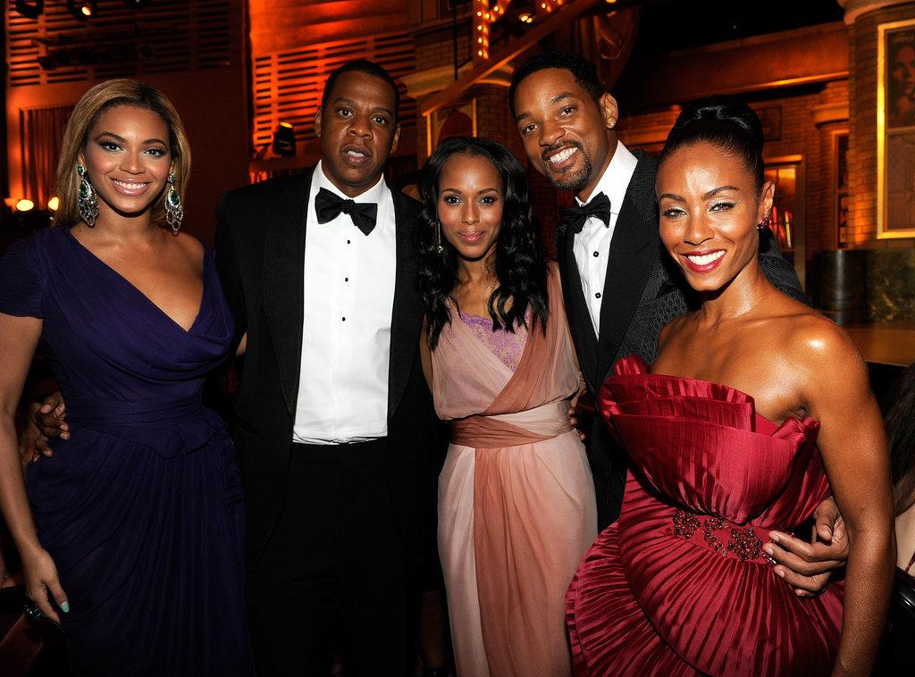Beyoncé, Jay Z, Will Smith, and Jada Pinkett Smith All Love Her