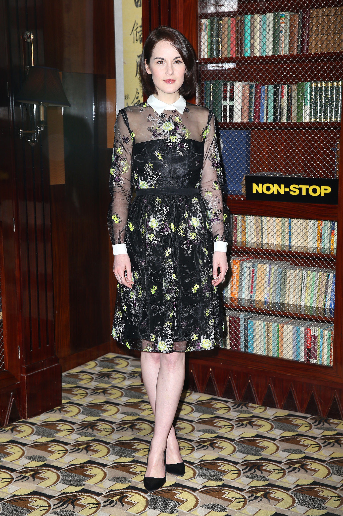 Michelle Dockery at a Non-Stop Press Event