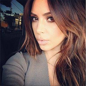 Kim Kardashian Brunette Hair 2014