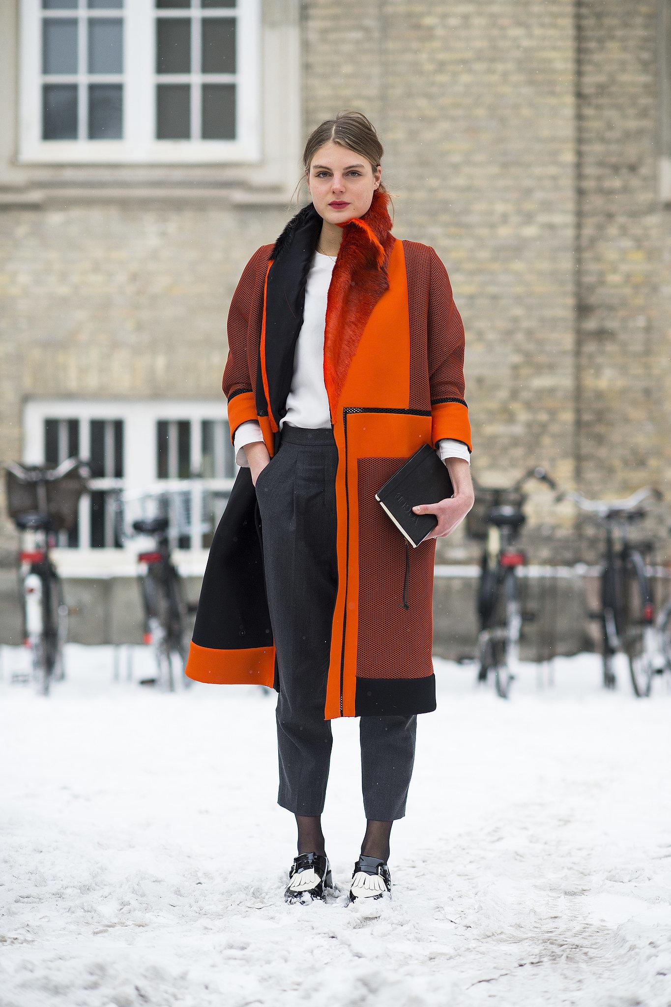 Orange you glad she added some wow-factor color? Source: Le 21ème   Adam Katz Sinding