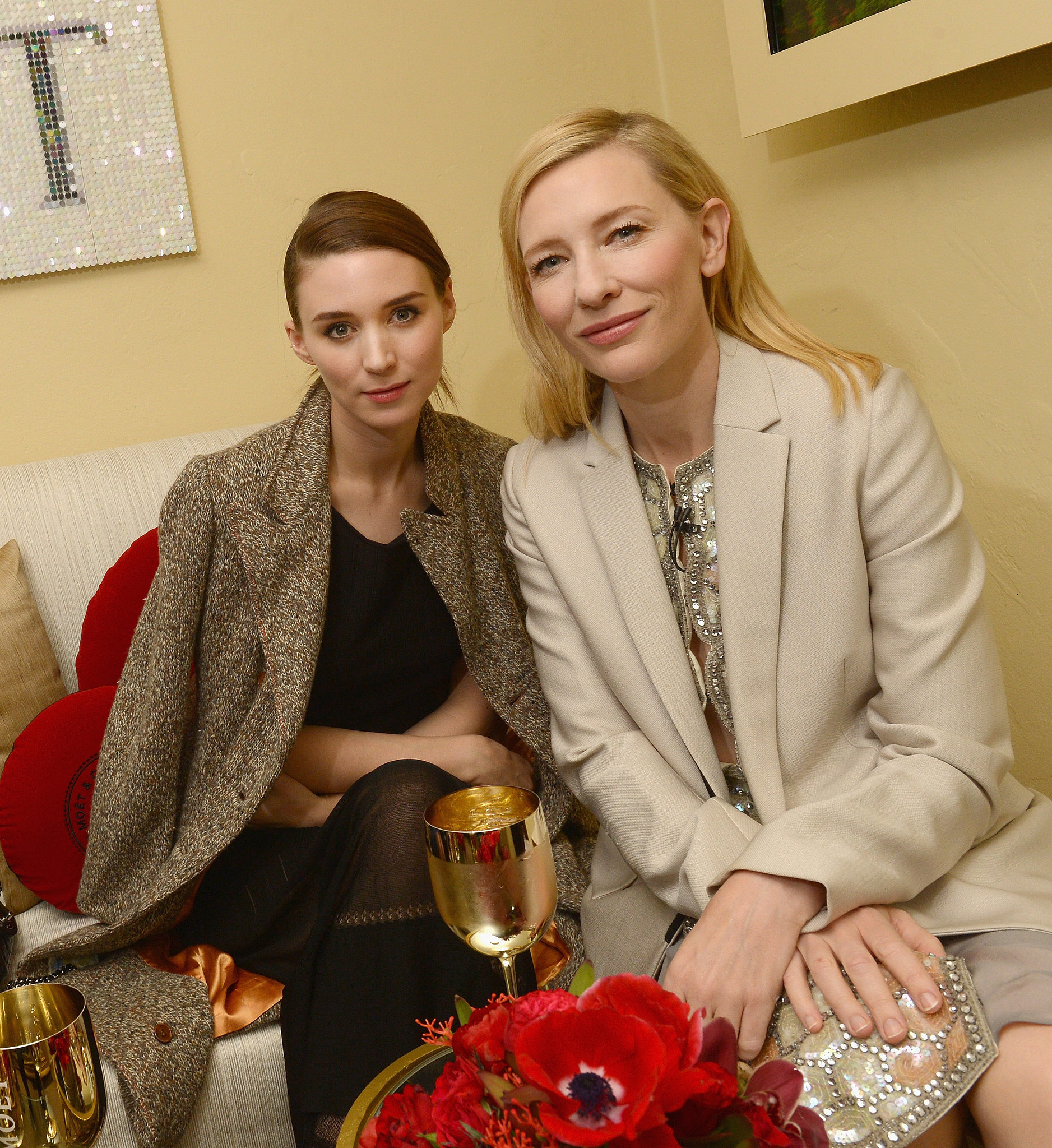 Cate Blanchett Celebrates Another Win With Rooney Mara