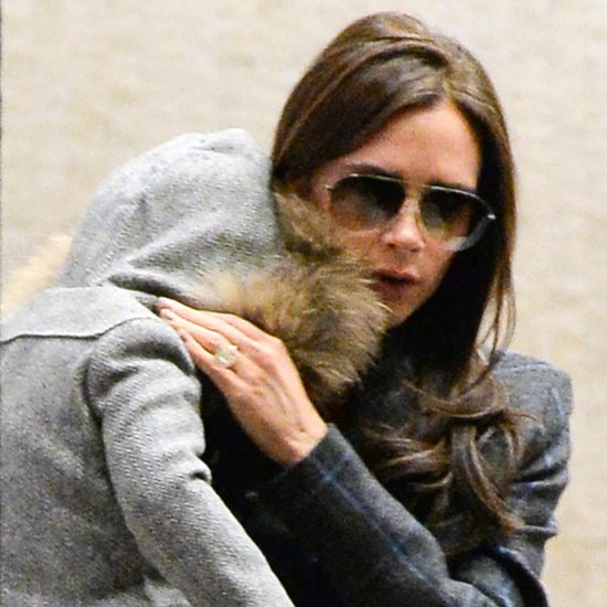 Victoria Beckham and Harper at the Airport in NYC