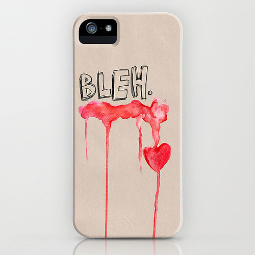 Bleh heart case ($35) for iPhone models and Samsung Galaxy S