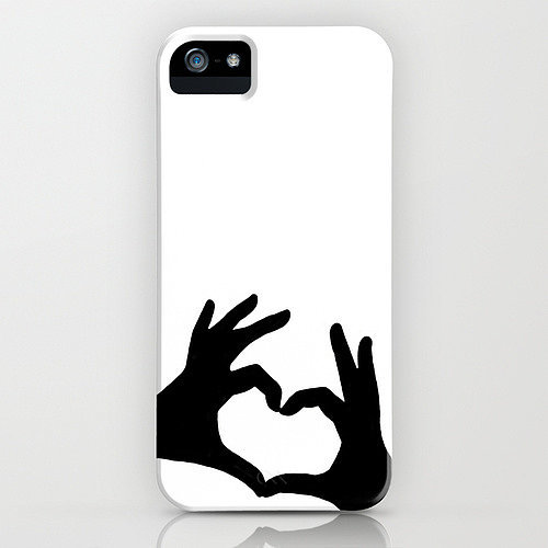 Heart fingers case ($35) for iPhone models and Samsung Galaxy S4