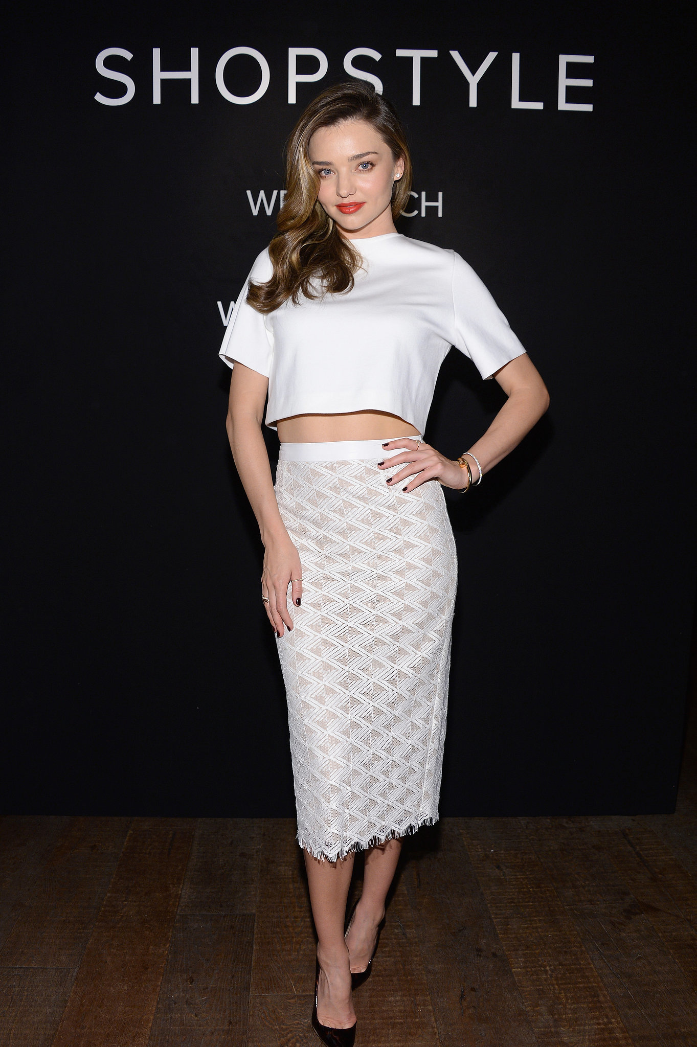 Miranda Kerr in Jenni Kayne at the launch of the new ShopStyle campaign.