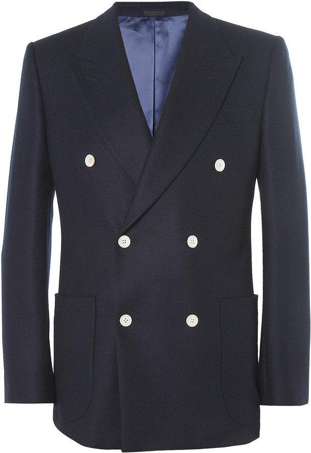 Alexander McQueen Double-Breasted Cashmere Blazer ($2,680)