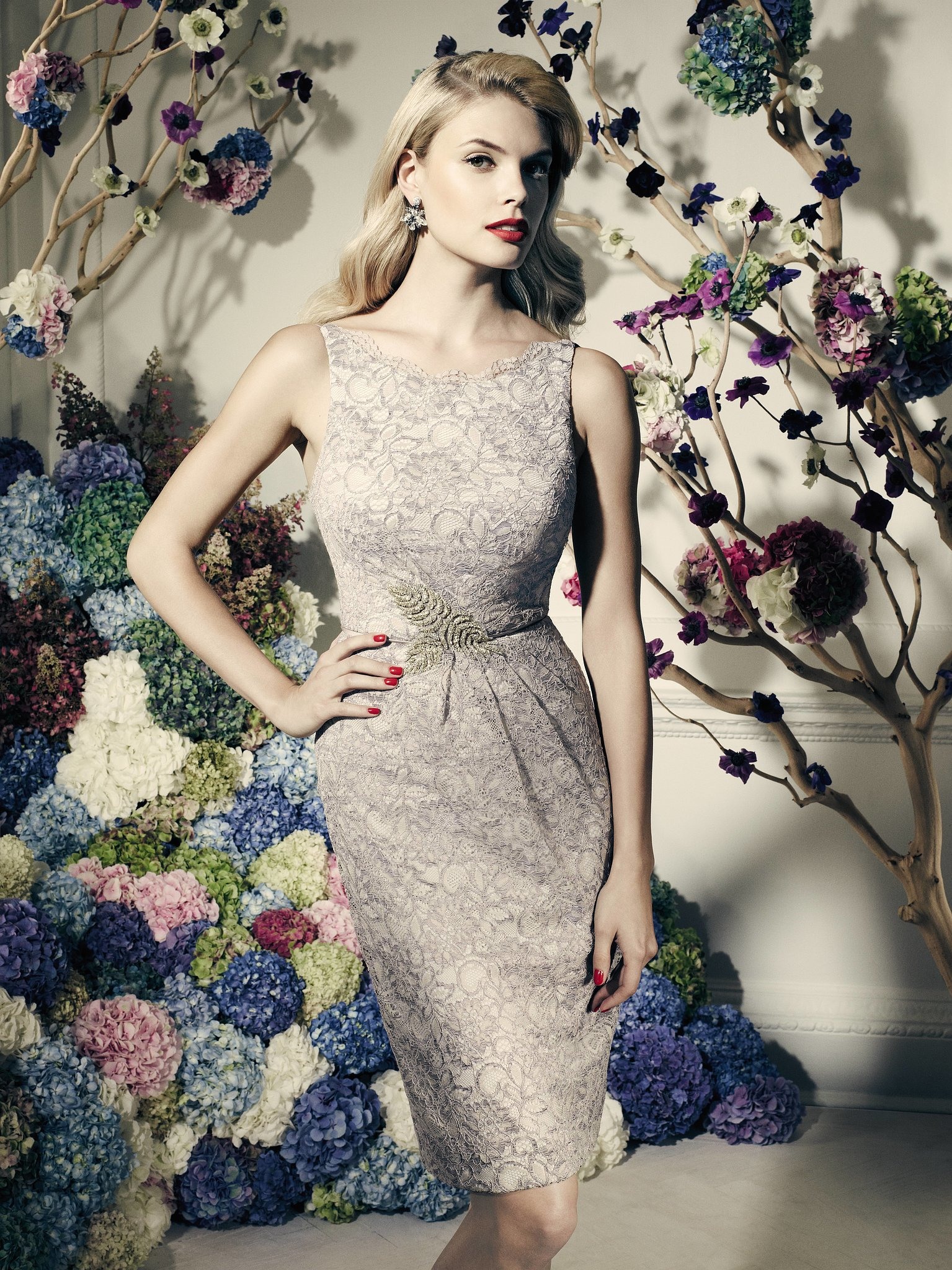 Truly zac posen short lace dress zac posen 39 s david 39 s for Truly zac posen wedding dress with sequin detail