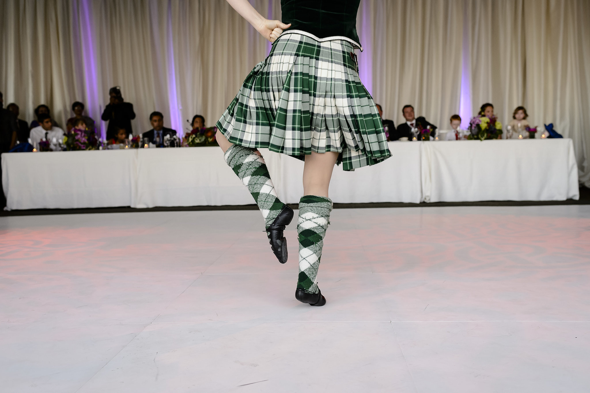 Reception entertainment included Scottish dancers. Photo by Chrisman Studios