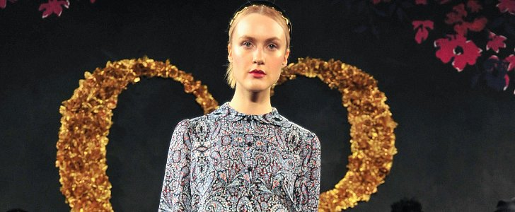 Dark, Flirty Florals From Charlotte Ronson's Fall Collection