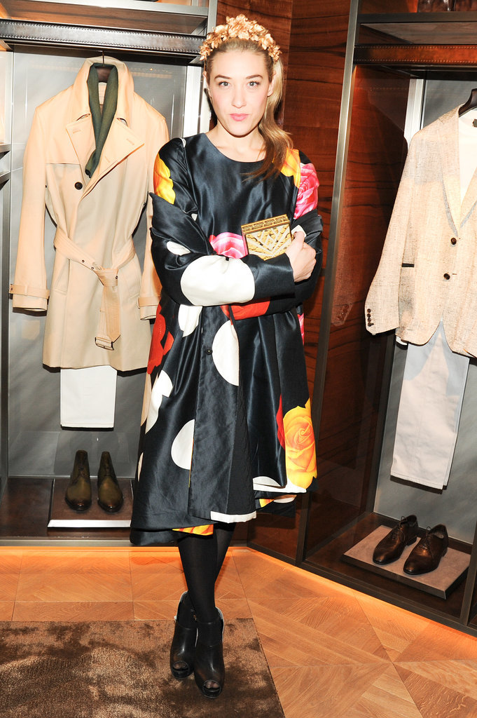 Mia Moretti at Berluti's Madison Avenue store opening.