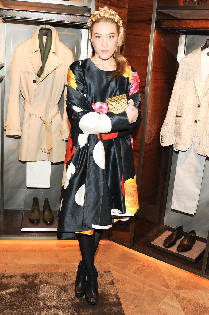 Mia Moretti at Berluti's Madison Avenue store opening.