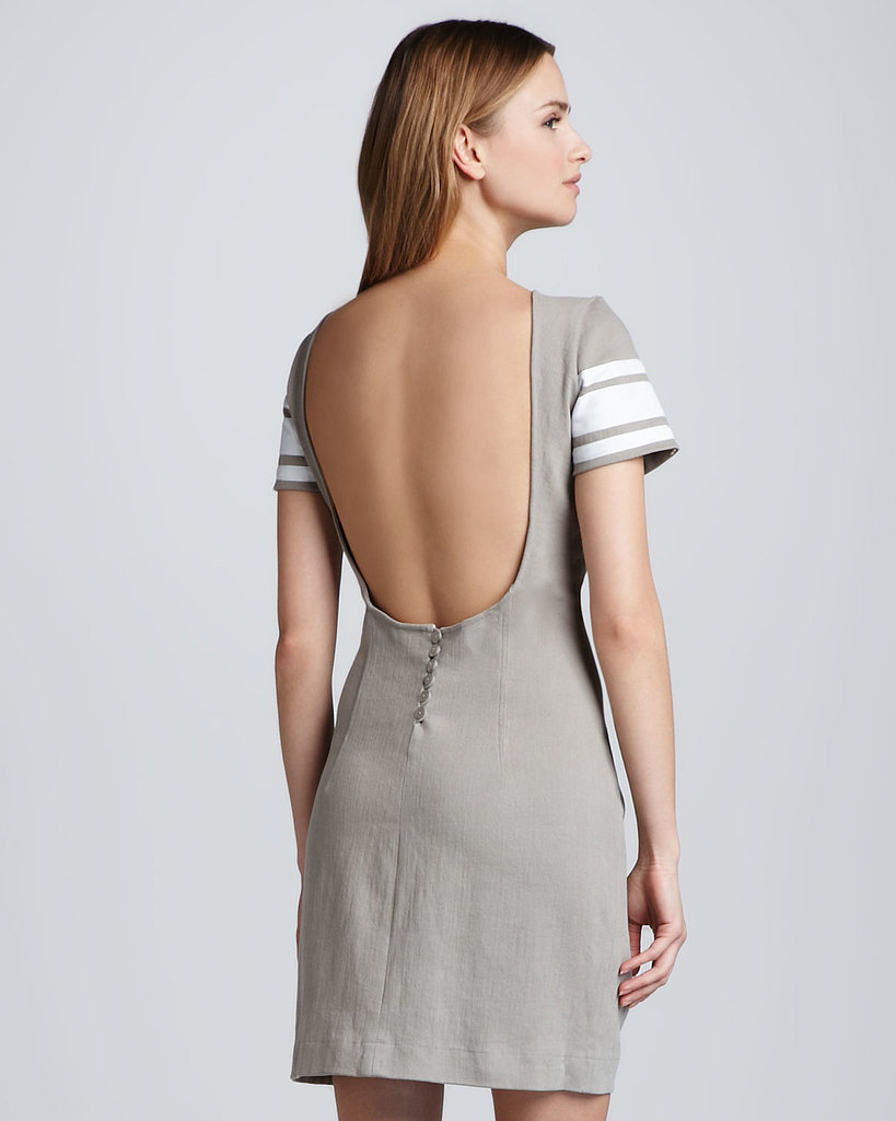 Pencey Open-Back Varsity Stripe Dress ($75, originally $216)