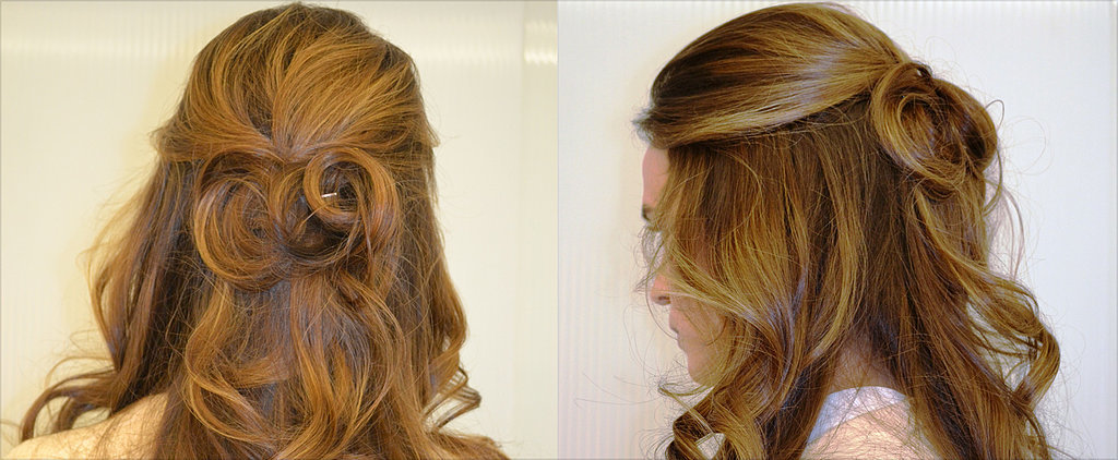 Try This Romantic, Curly Half-Up Hairstyle For Valentine's Day