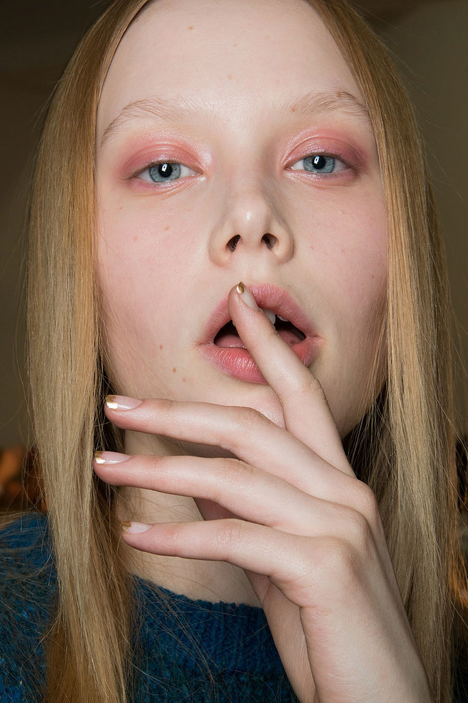 French Manicure Trend Fall 2014 | New York Fashion Week | POPSUGAR