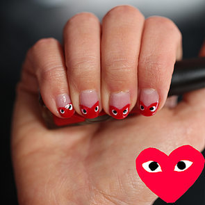 Beauty How-To Video: Valentine's Day Comme des Garcons Nails