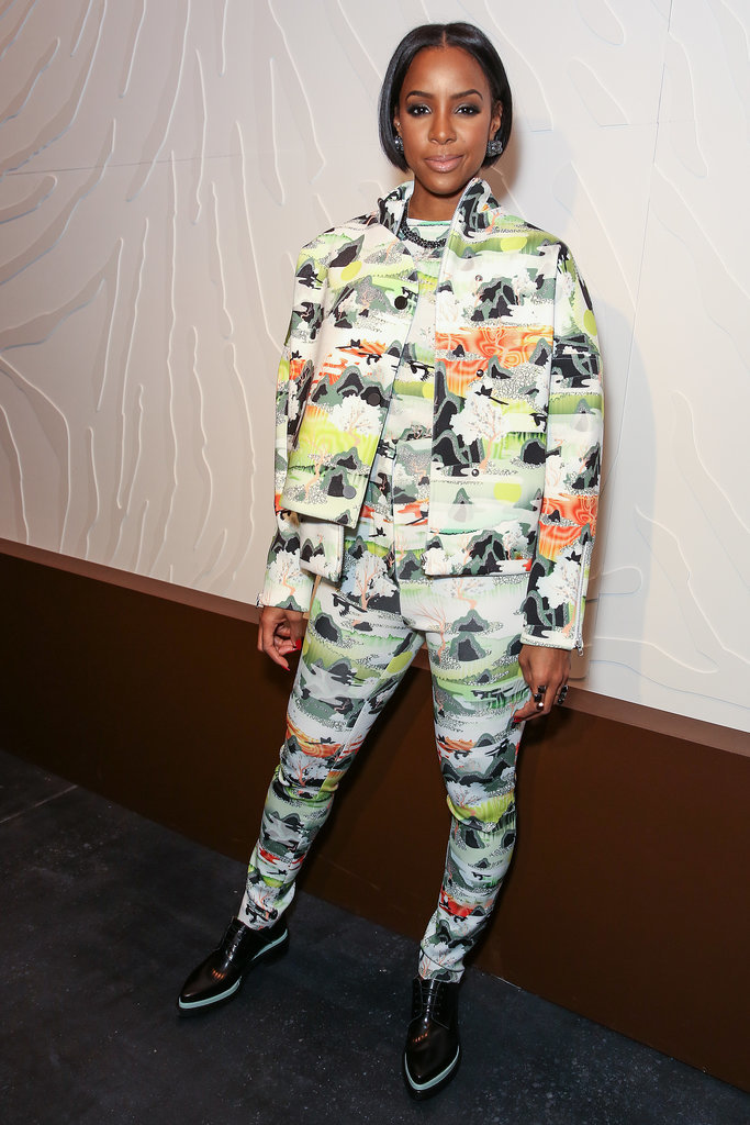 Kelly Rowland traded her dress in for very matchy pants and jacket.