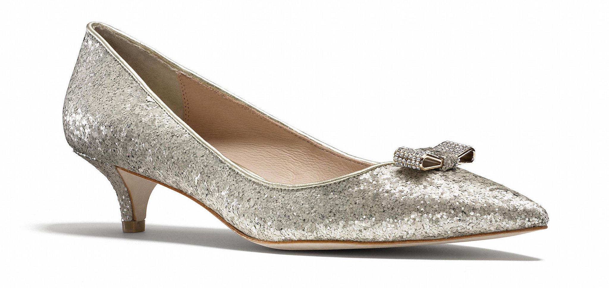 Coach glitter Monroe kitten heels ($99, originally $198)