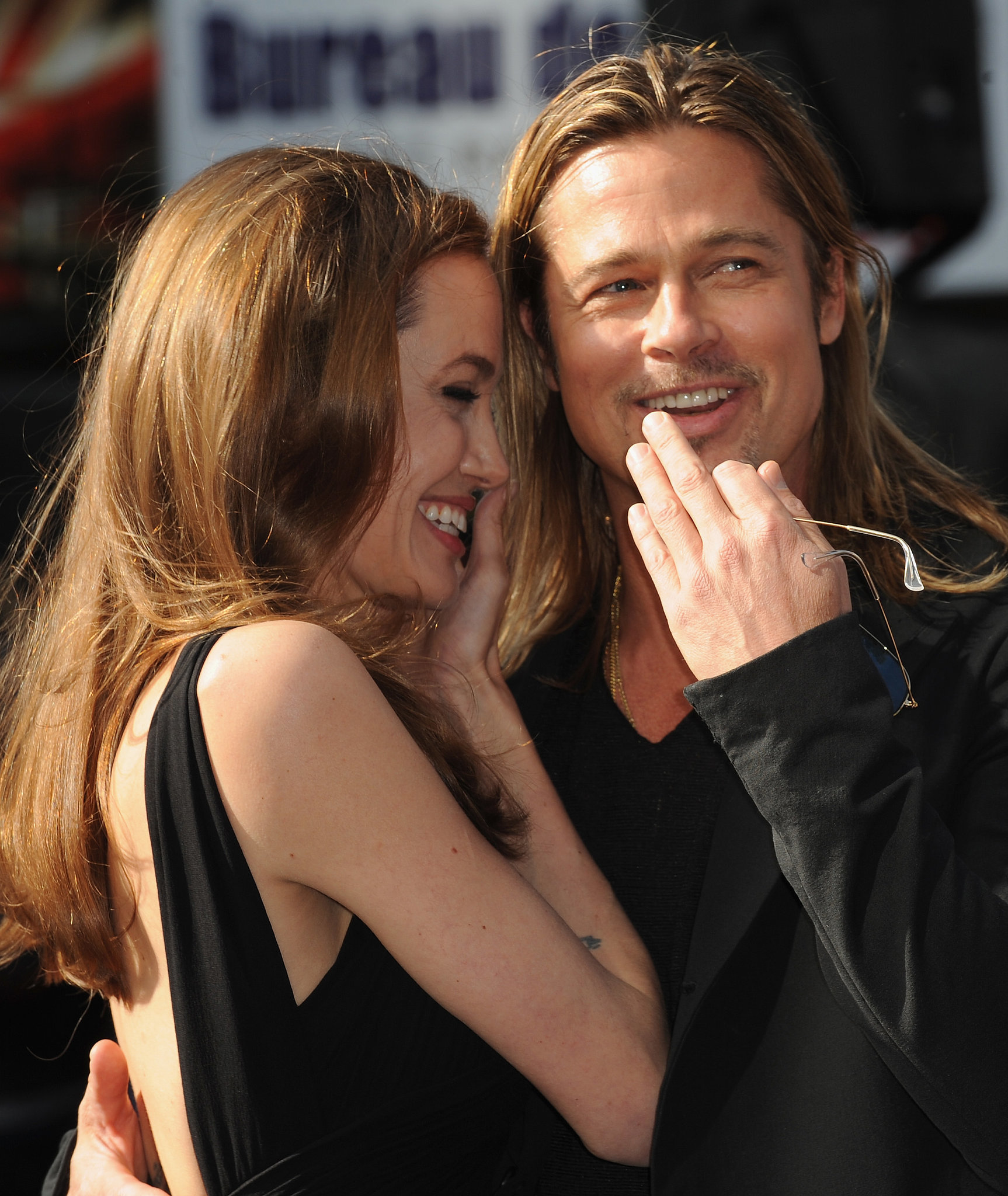 They were all smiles while arriving at the London premiere of World War Z in June 2013.