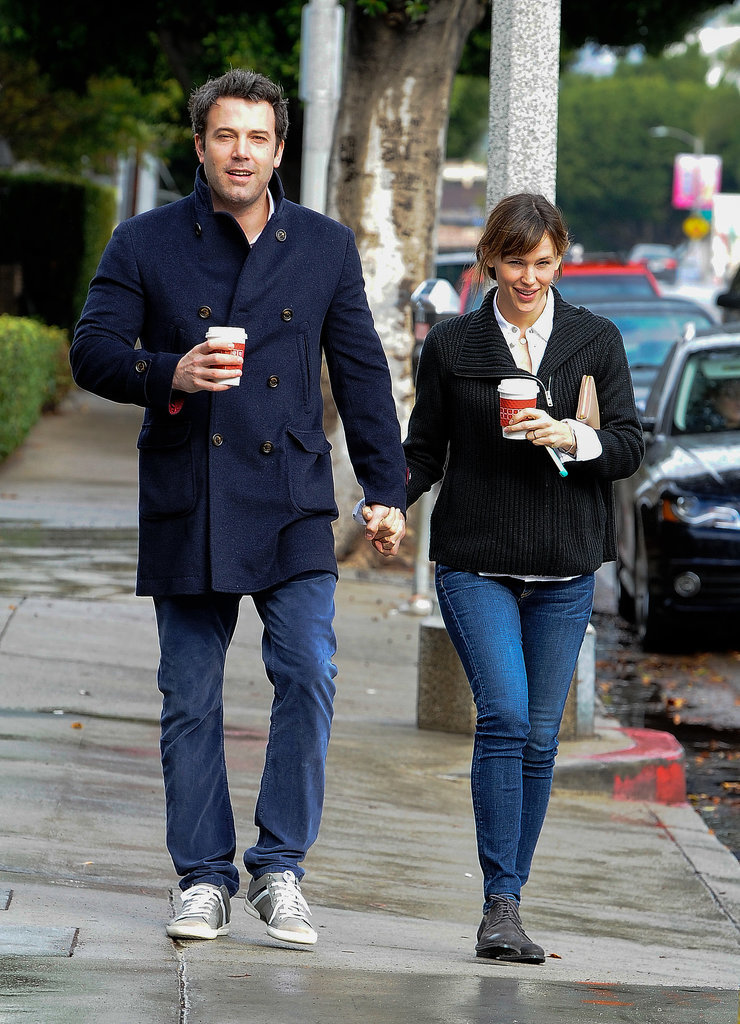 Ben and Jennifer held hands during a daytime stroll in LA in November 2013.