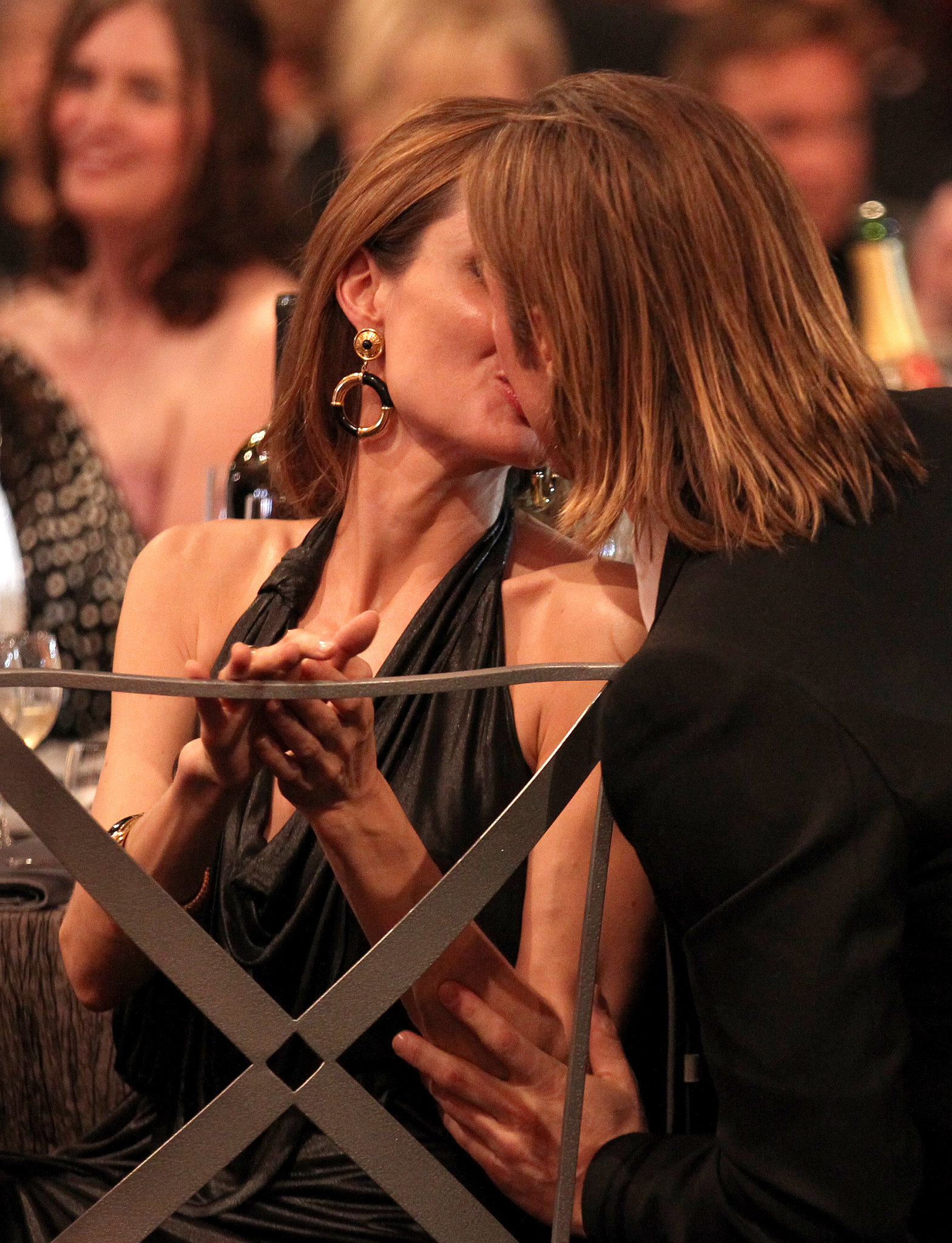 The couple kissed during the January 2012 SAG Awards.