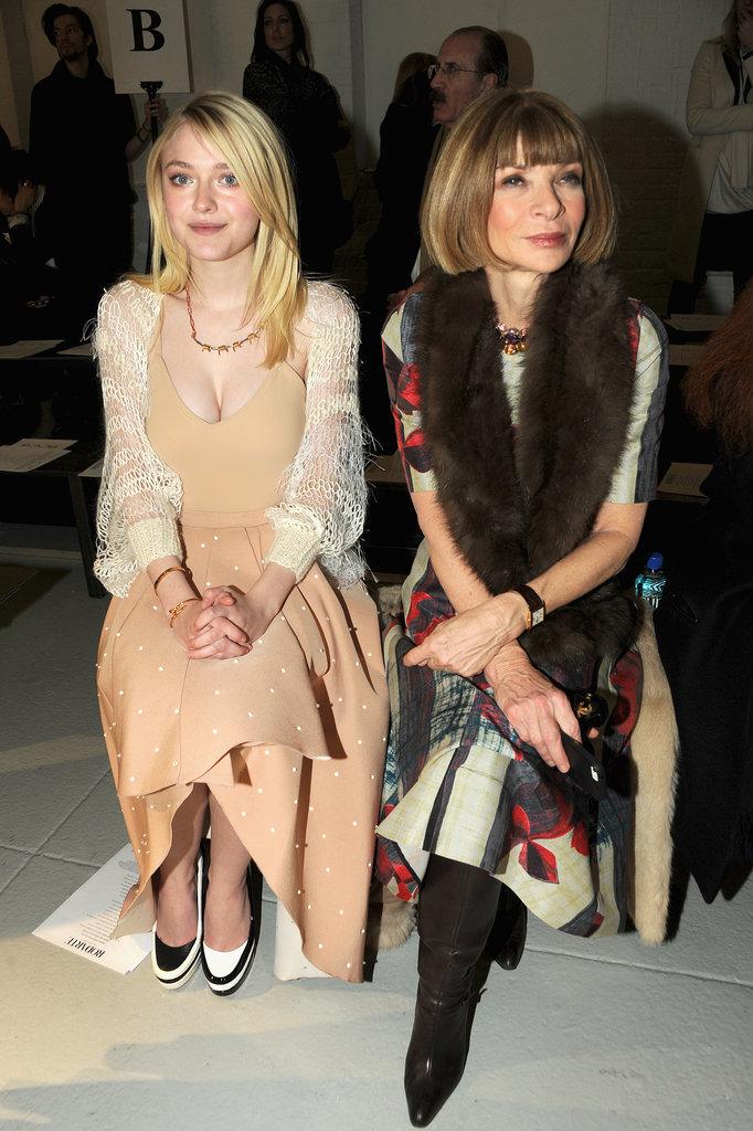 Dakota Fanning Shows Serious Skin at Fashion Week