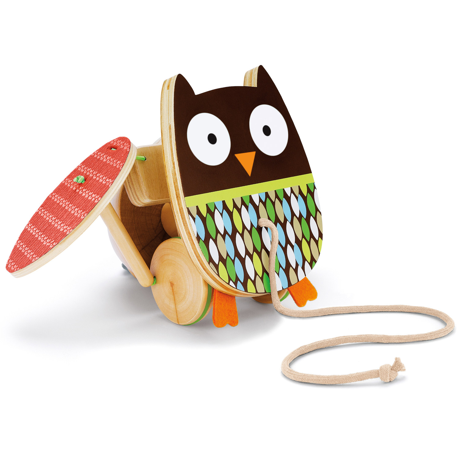Skip Hop Treetop Friends Flapping Owl Pull Toy