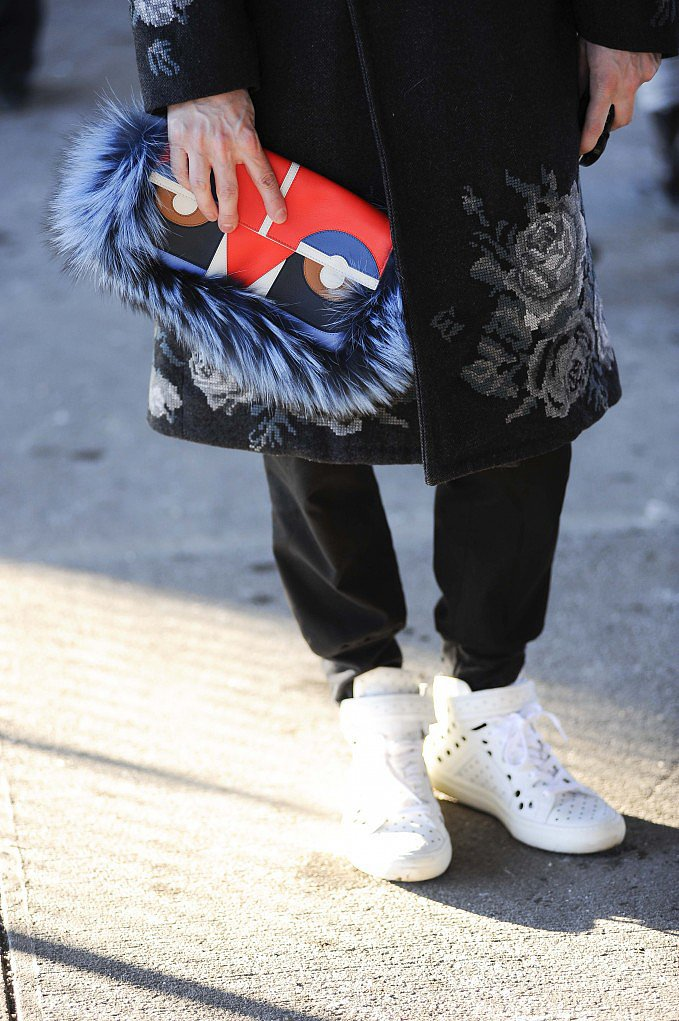 It's easy to make a statement with this Fendi face clutch in hand. Source: Gorunway