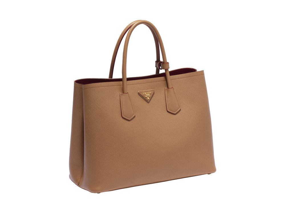 prada double bag in caramel we are doubling down on the. Black Bedroom Furniture Sets. Home Design Ideas