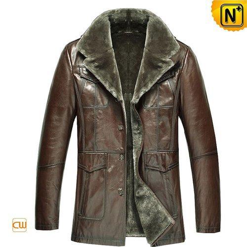 Sheepskin Lined Shearling Coat Men CW868813