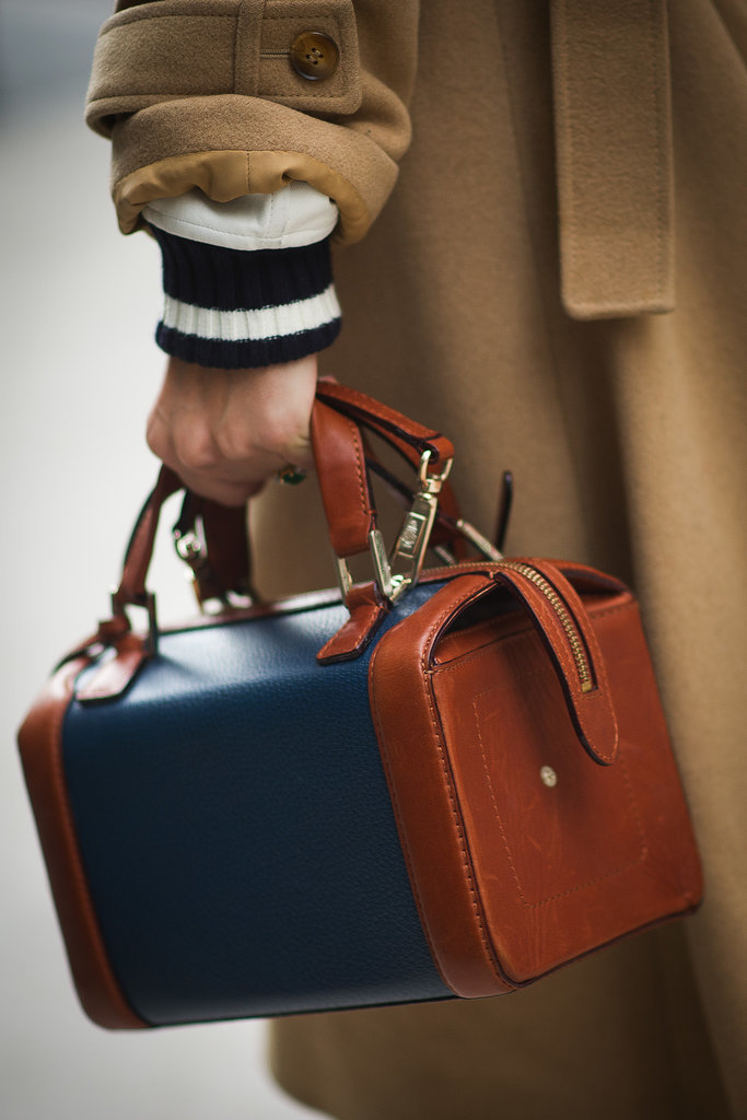 We're smitten with her classic carry-all.
