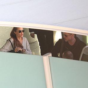 Angelina Jolie and Maddox at LAX   February 2014