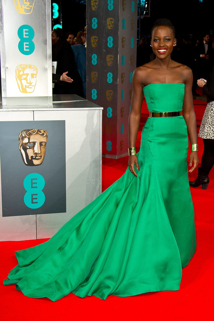 Lupita Nyong'o at the 2014 BAFTA Awards.