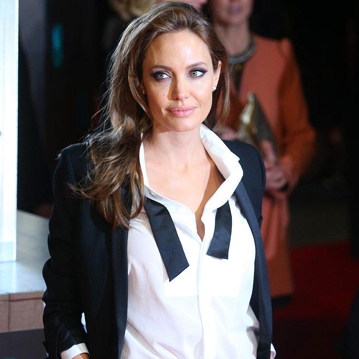 Angelina Jolie in a Tuxedo at the 2014 BAFTA Awards