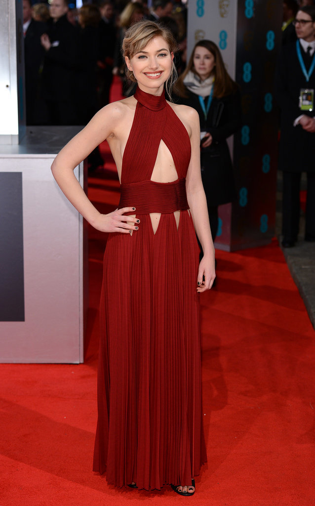 Imogen Poots on the 2014 BAFTA Red Carpet
