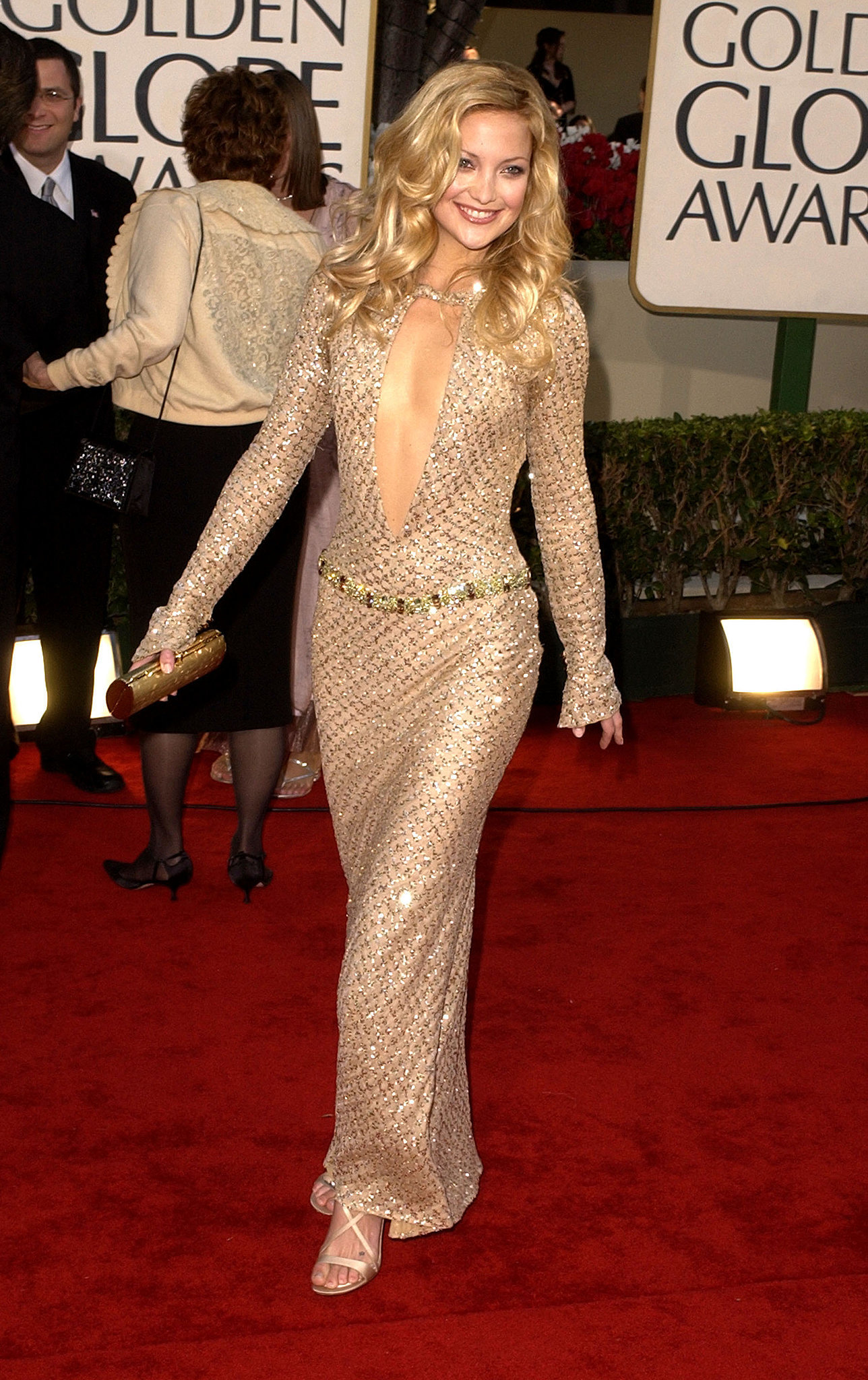 Kate Hudson in Versace at the Golden Globe Awards