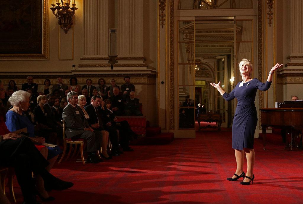 Helen Mirren delivered a speech from Shakespeare.