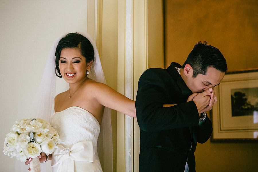 It's all in his expression.  Photo by Kim Le Photography via Style Me Pretty