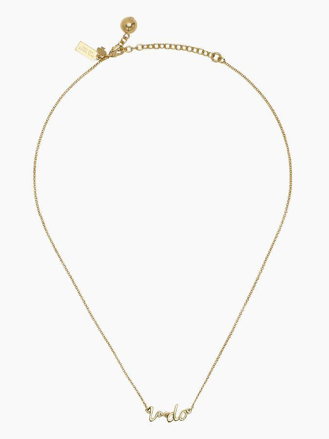 "Kate Spade Gold ""I Do"" Necklace"