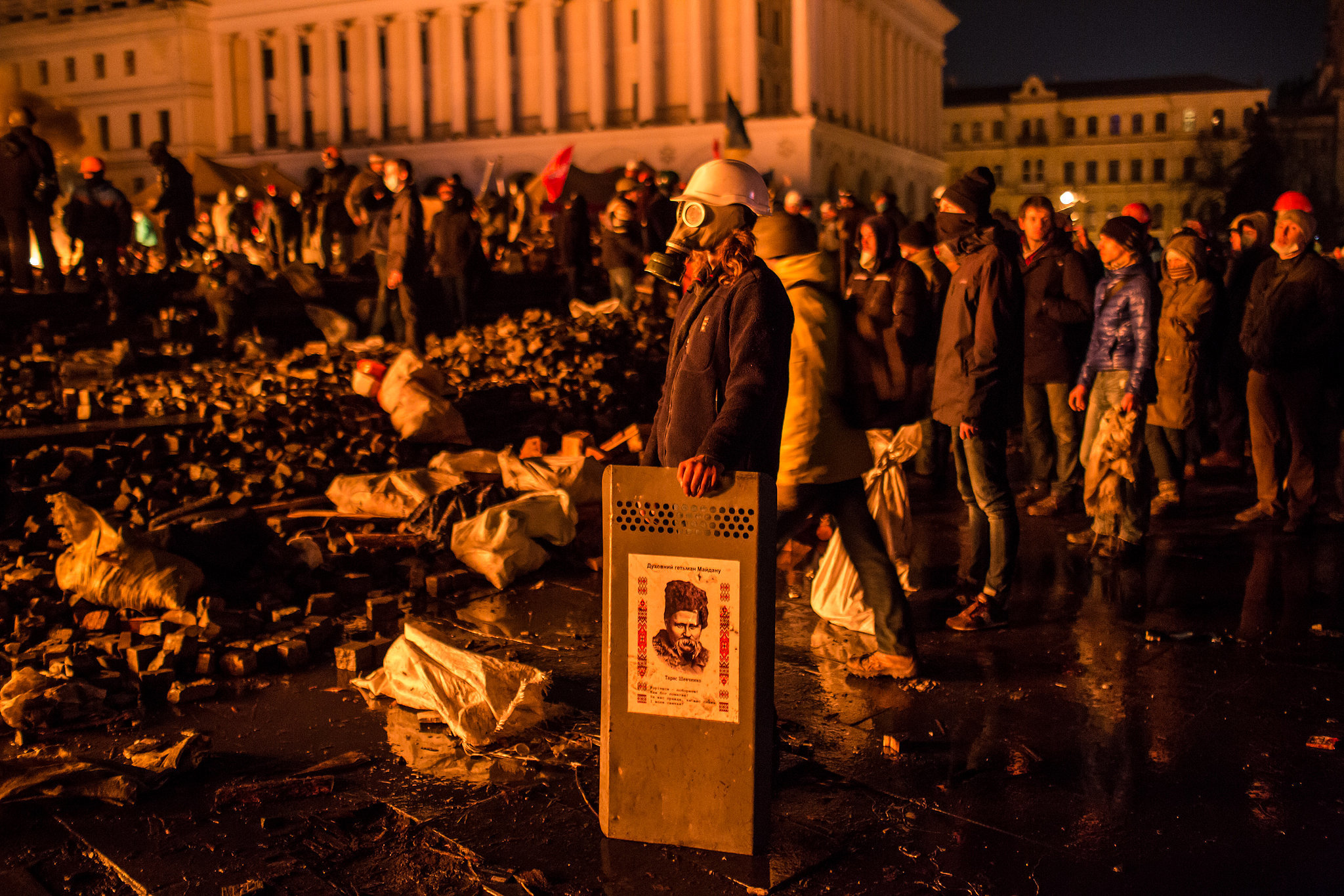 Protesters surrounded Independence Square, known as Maidan.