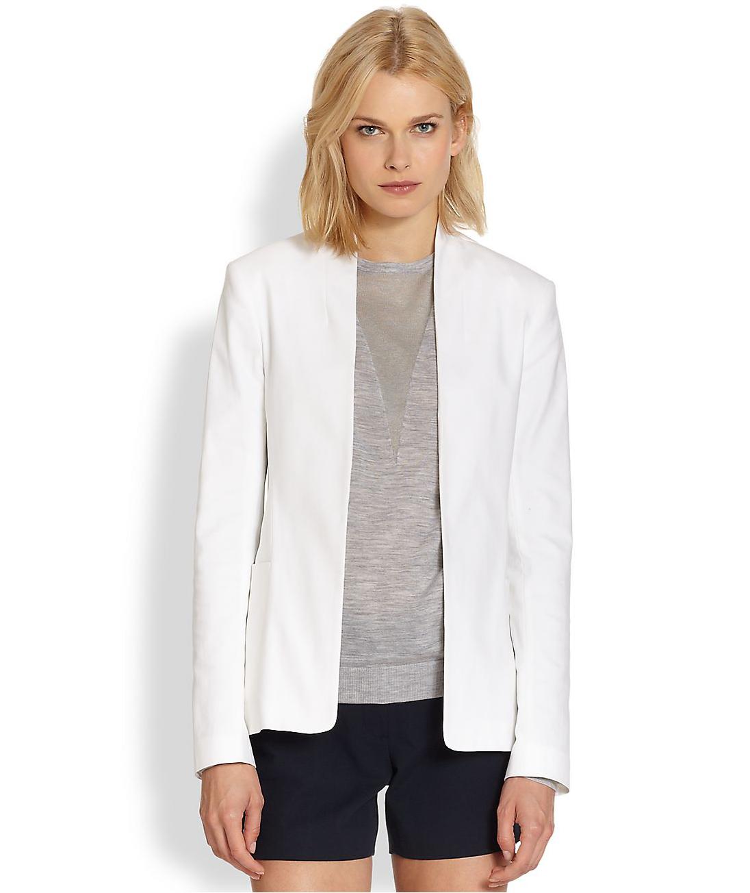 Theory Kacela White Checklist Stretch Cotton Blazer ($277, originally $395)