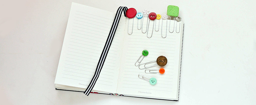 DIY These Adorable Button Paper Clips