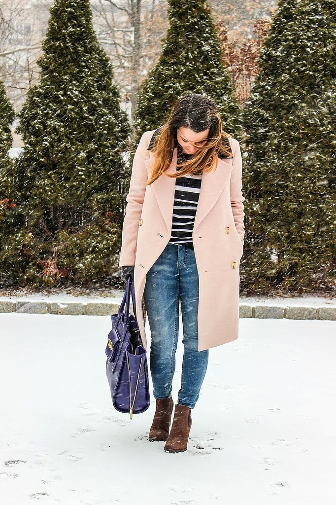 Congrats, whiskey ginger! We'd actually look forward to snowy weather just so we could wear a coat that stylish.